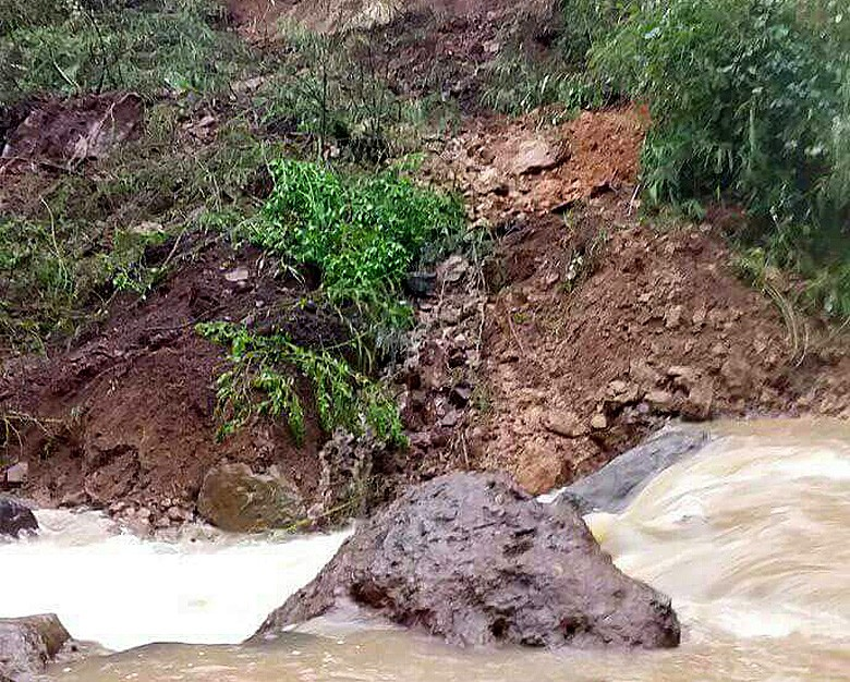Landslide isolates two villages in East Manggarai