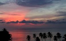Morning has broken: Clouds block the view of a sunrise at Iboih Beach, Weh Island.  JP/ PJ Leo