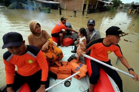 Two children die as floods strike Medan