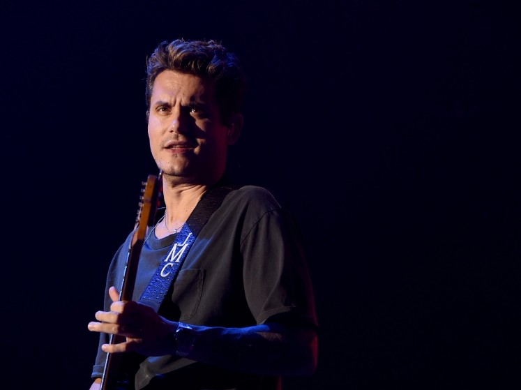 John Mayer performs at the Forum in Inglewood, California, on July 30.