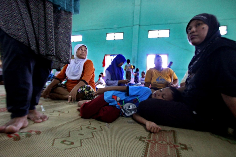 Around 500 villagers were displaced from their houses by the floods in Bantul regency. JP/Aditya Sagita
