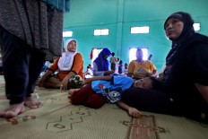 Around 500 villagers were displaced from their houses by the floods in Bantul regency. JP/Aditya Sagita