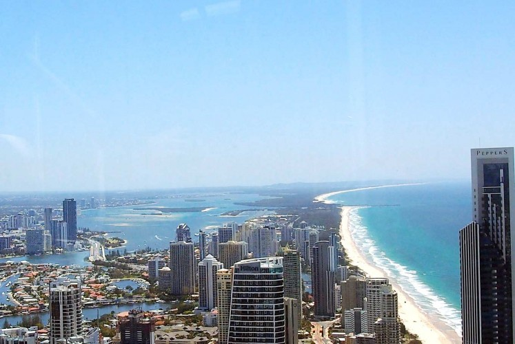 Quite a view: The Gold Coast skyline as seen from the Skypoint observation deck on top of the Q1 building.