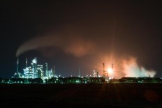 24/7: The Refinery Unit VI is seen lighting up the nightscape of Pertamina Balongan in Indramayu, West Java. JP/ Jerry Adiguna