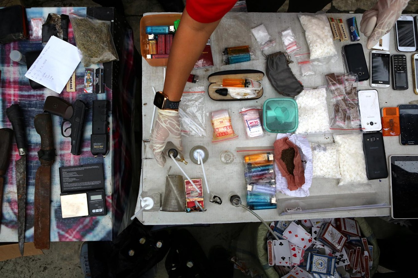 West Jakarta Police foil drug distribution attempt