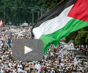 Minister, Anies join thousands in rally to support Palestine