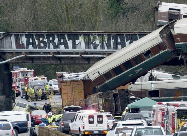 US train was doing 80 mph in 30 zone when derailed