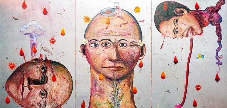 Melt (triptych, 2008) by Entang Wiharso