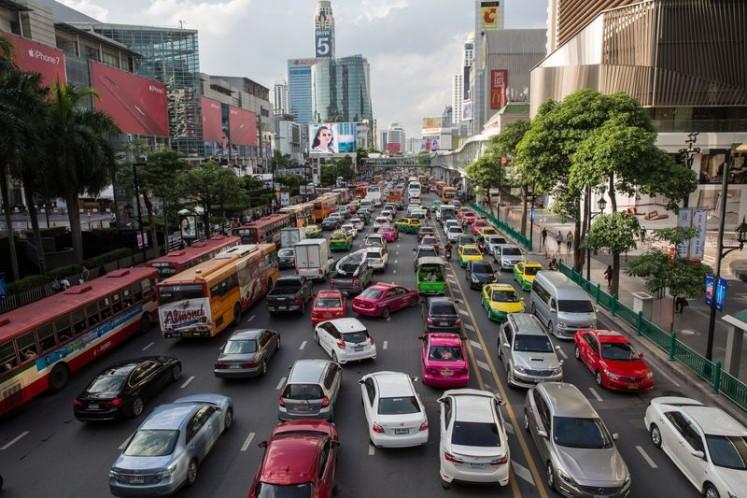 Traffic congestion in Bangkok.