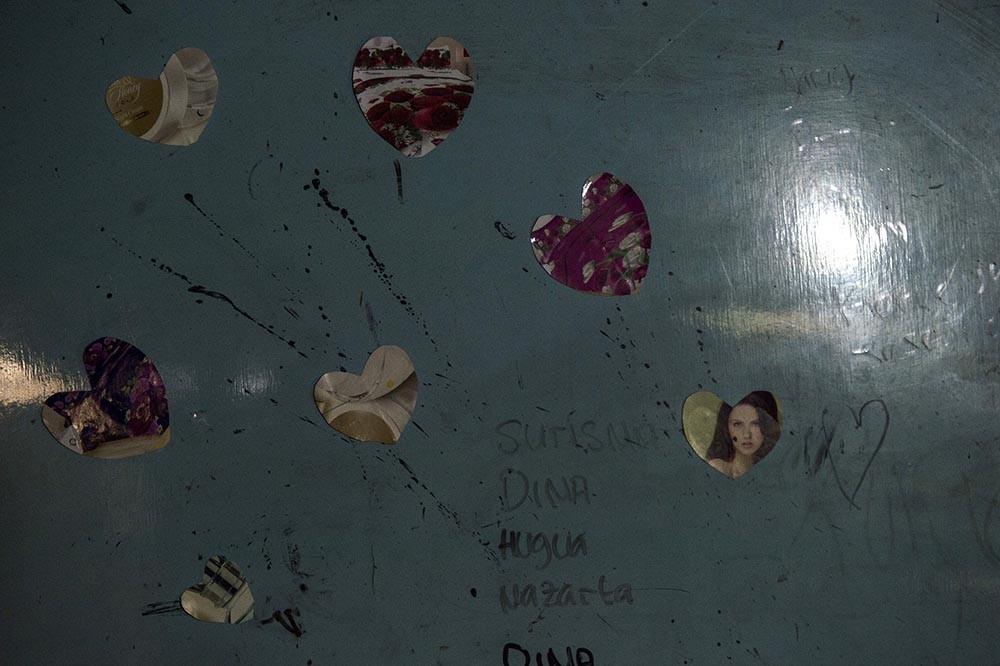Heart-shaped decoration at Nadira's house. Antara/Rosa Panggabean