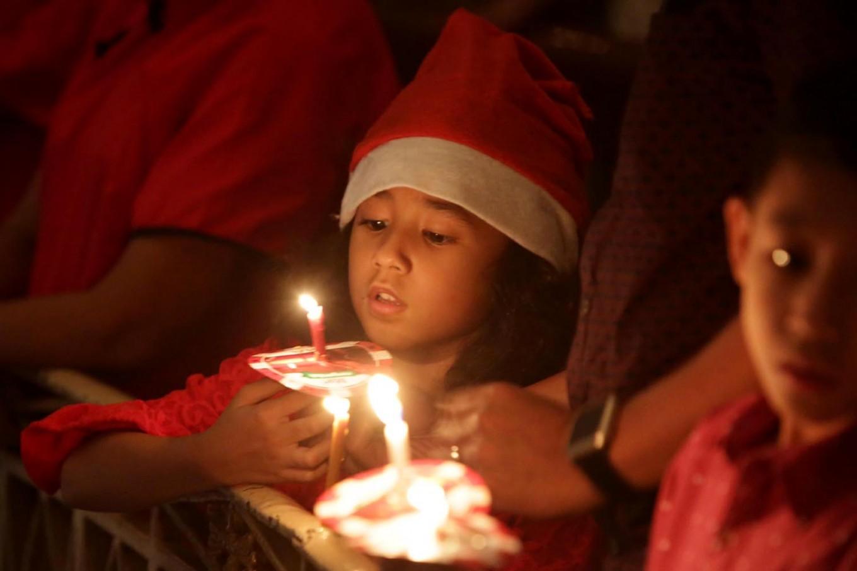 Light of hope: Christians celebrate Christmas at Immanuel church in Jakarta. JP/Wendra Ajistyatama