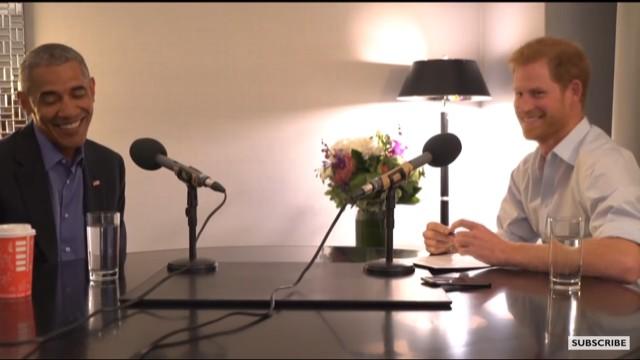 Prince Harry interviews Barack Obama in Toronto.