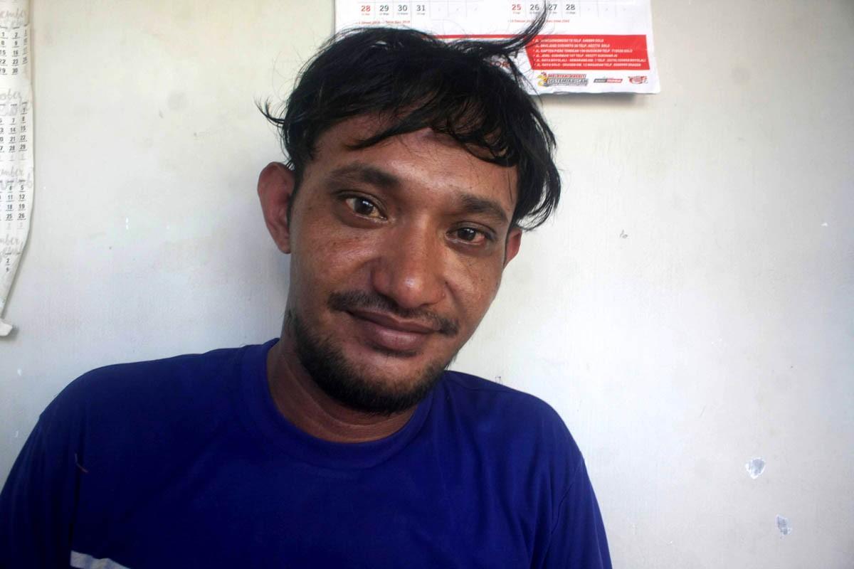 Marthins Hidungoran smiles for the camera. JP/Maksum Nur Fauzan