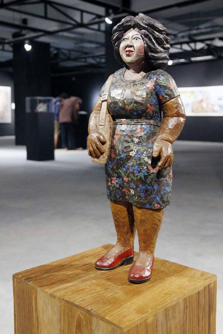 Part of history: A sculpture titled Dolly, by Abdi Setiawan, is displayed at the recent Saya Datang exhibition in Yogyakarta.