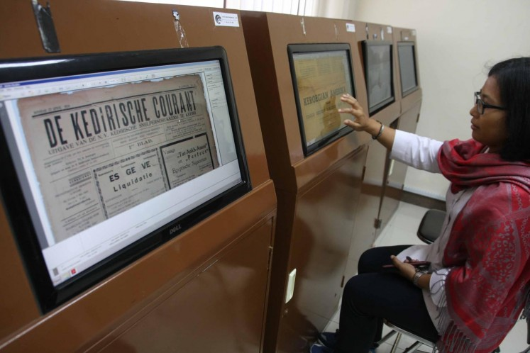 Digitizing newspapers at Surakarta's National Press Monument