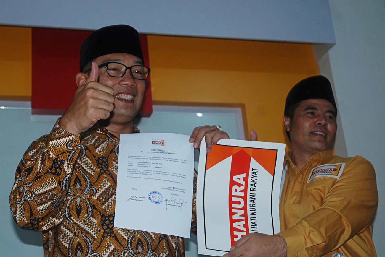 Hanura gives Ridwan Kamil freedom to choose running mate