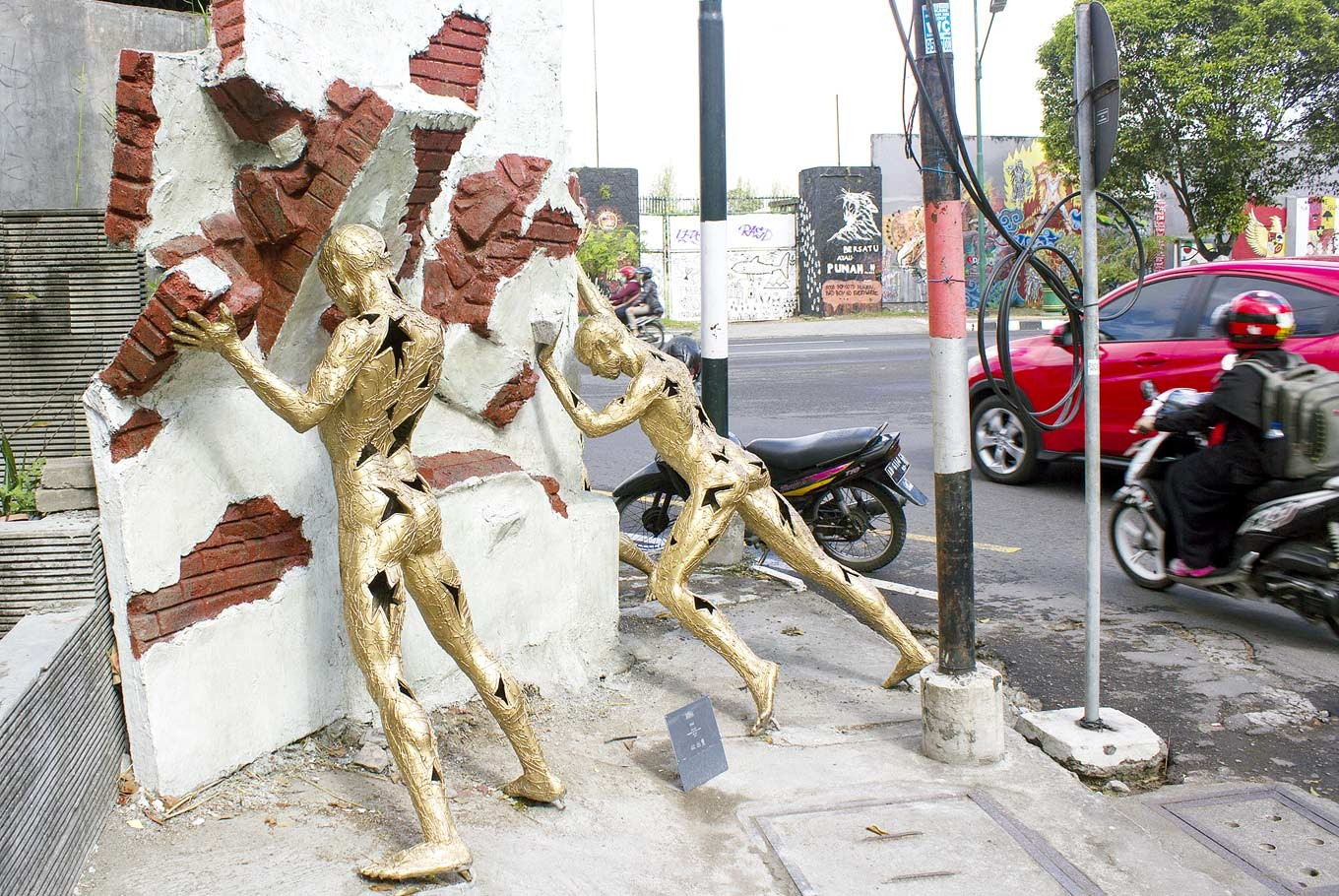 Street sculpture project takes over Yogyakarta's Kotabaru