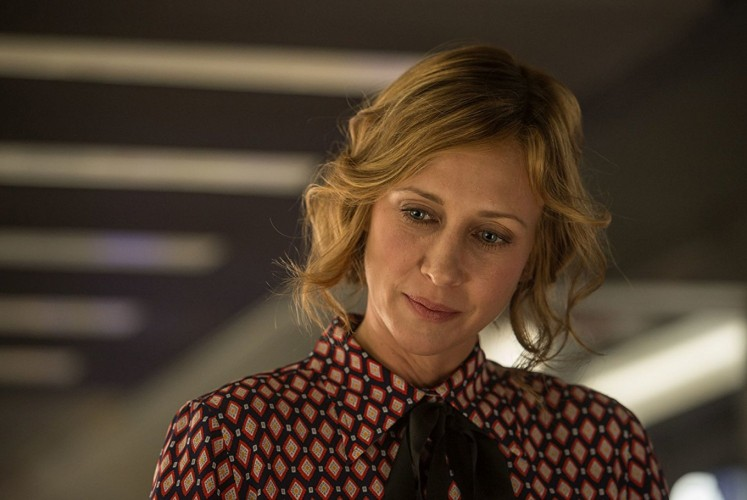 Vera Farmiga stars as the mysterious woman named Joanna in 'The Commuter'.