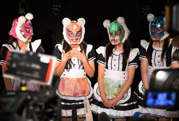 Japan's 'Virtual Currency Girls' debut to fan frenzy