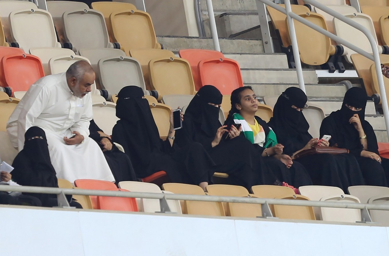 Saudi women football fans able to grandstand at last