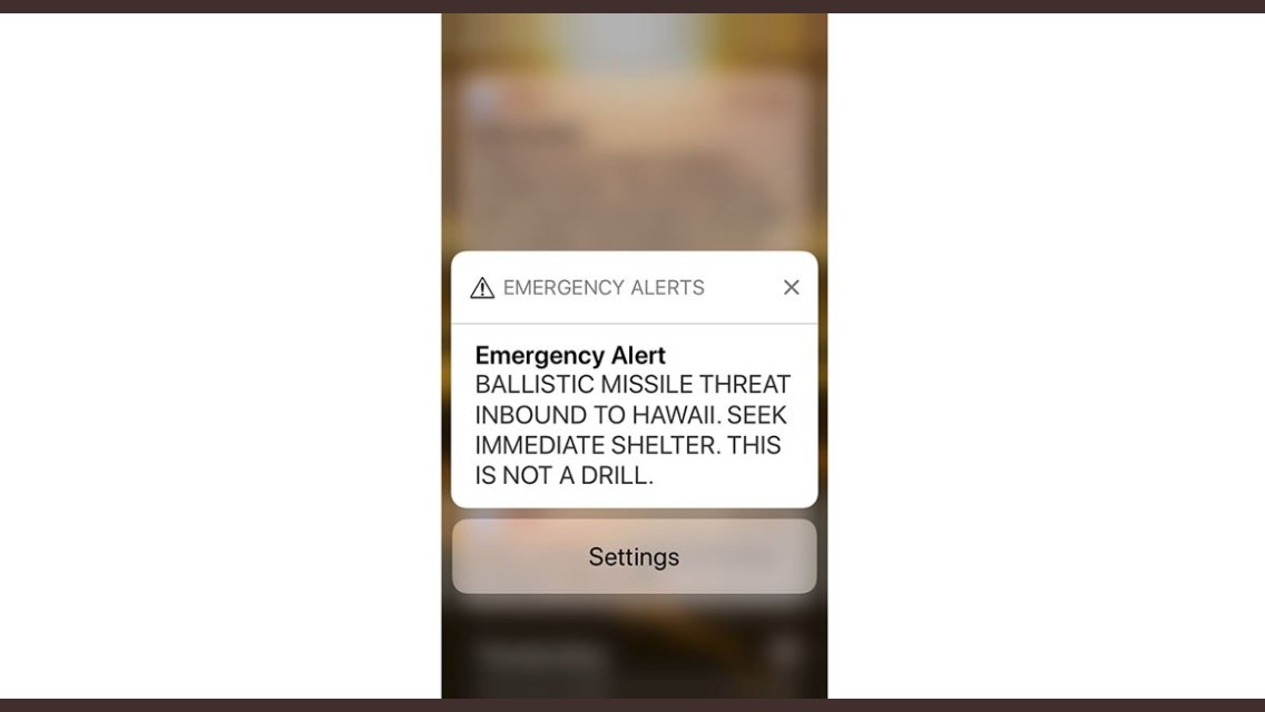 Hawaii rattled after alert of incoming missile is mistakenly sent