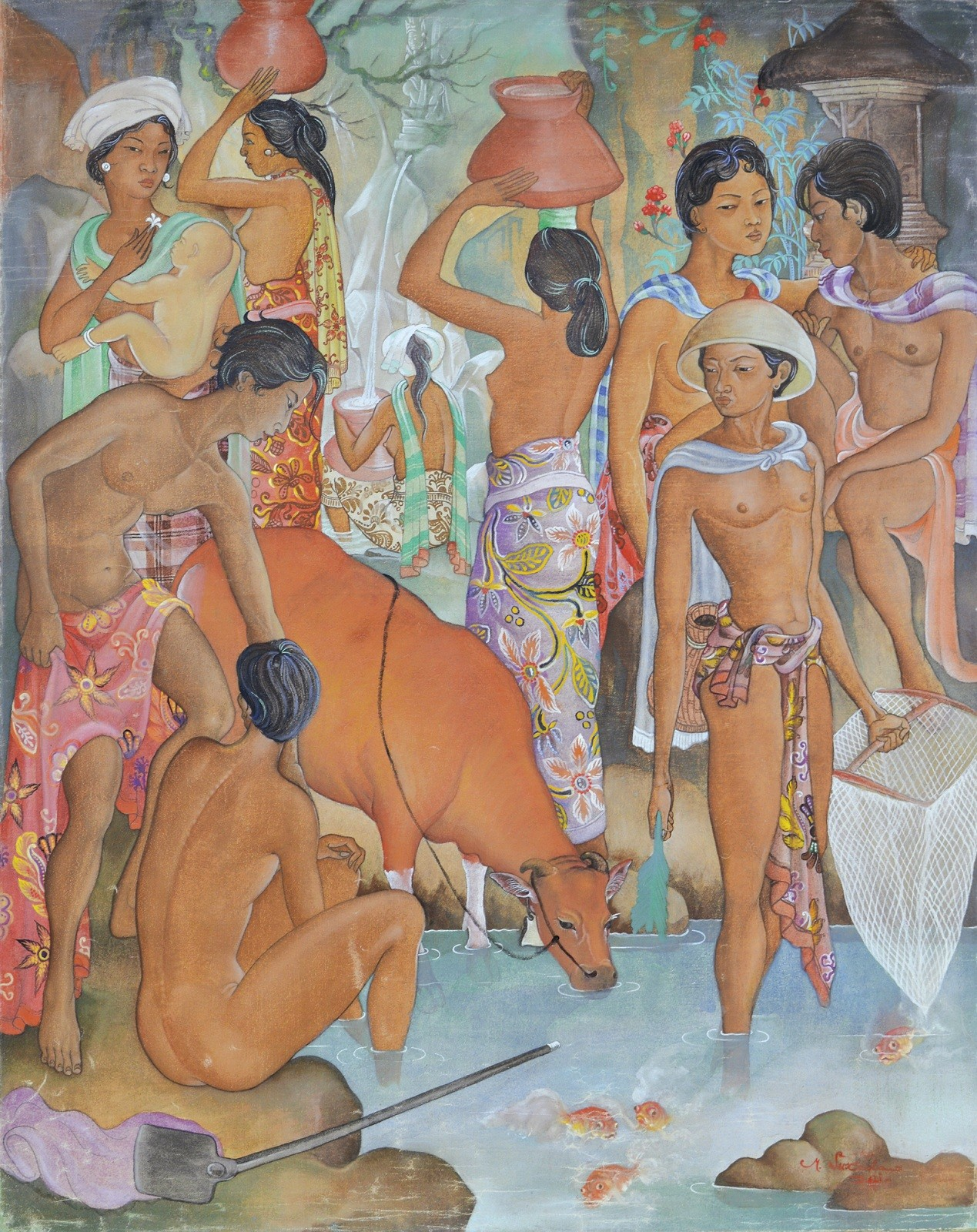 Lot # 580 'Bali Life' by Made Sukada.
