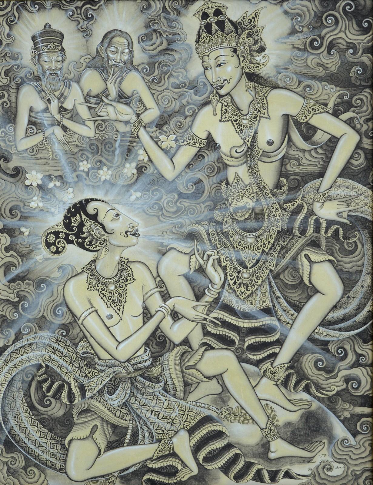 Lot #521 'Dialog Arjuna dan Kresna' by Made Sukada.