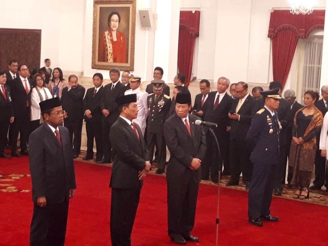 Jokowi inaugurates new Cabinet ministers