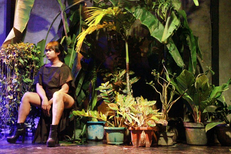 Contemplating: Transgender artist Tamara Pertamina performs Untitled.