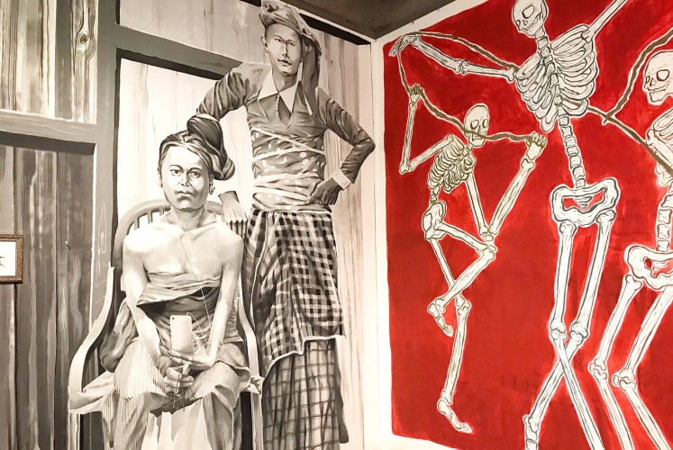 Consumerism: One of the works displayed at a recent exhibition at Bentara Budaya Bali gives a poignant critique of the prevailing lifestyle of consumerism among Balinese.