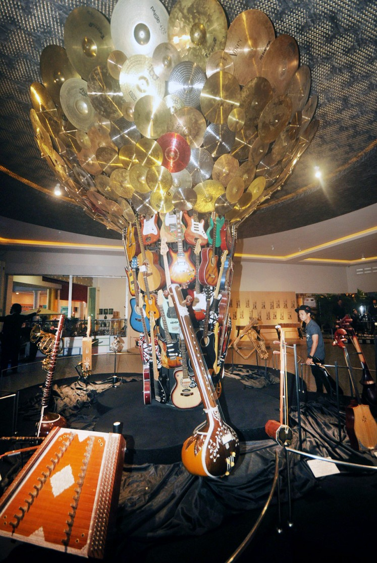 Iconic: Pohon Musik (Music Tree), the main attraction of Galeri Musik Dunia or World Music Gallery.