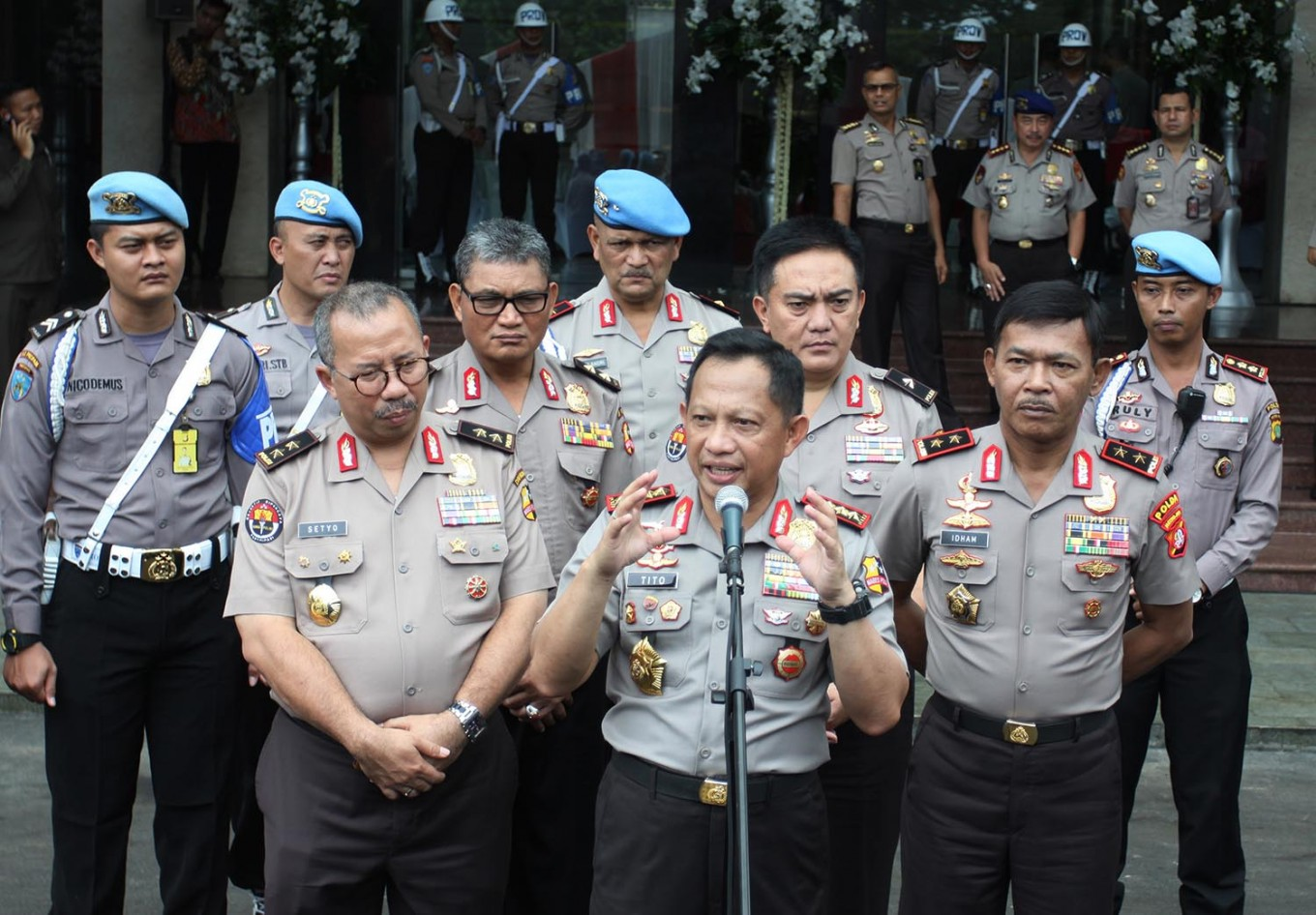 Police chief reassigns high-ranking Bareskrim officers