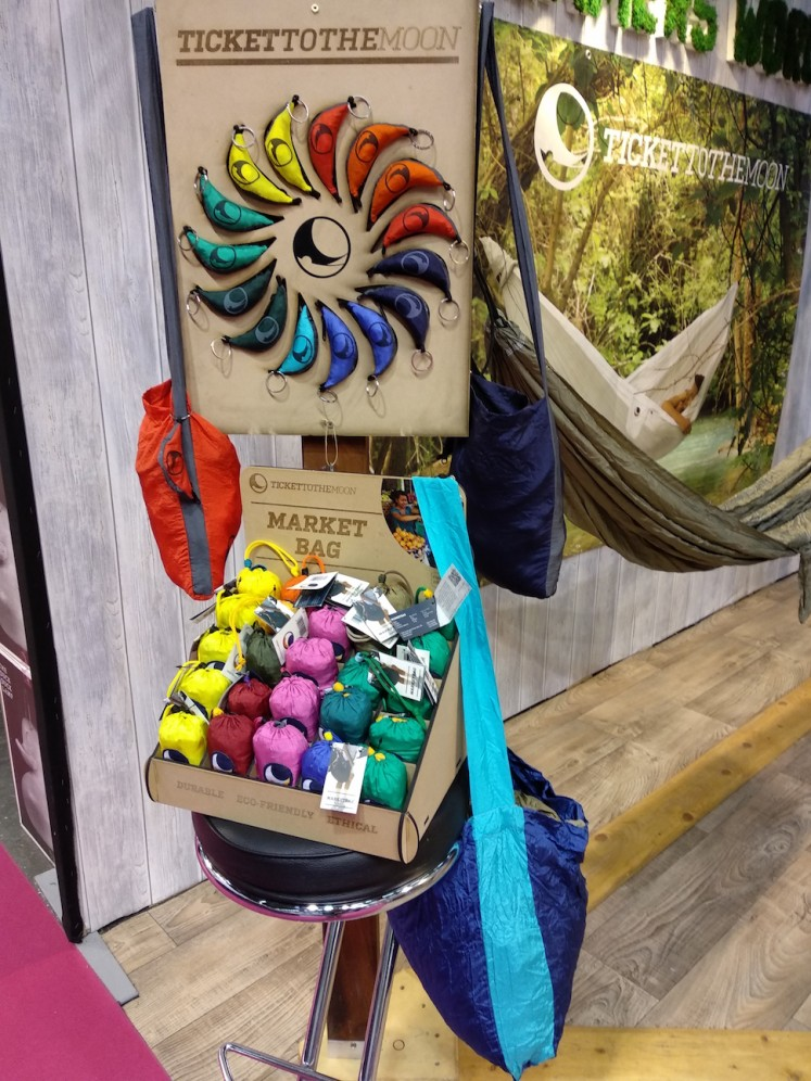 The eco-friendly market bag, which comes with a 10-year guarantee, is among the products shown at the Ticket To The Moon booth at Maison&Objet January 2018.