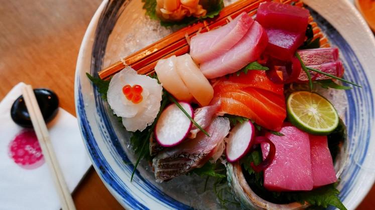 Sakura (assorted sashimi) at Sake+.
