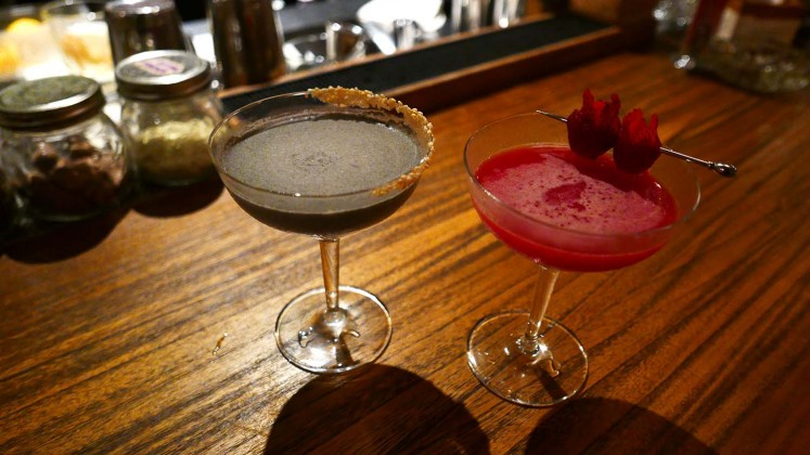 Asian-flavored cocktails at Fujin.