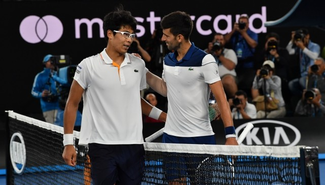 Chung dumps wounded Djokovic out of Open