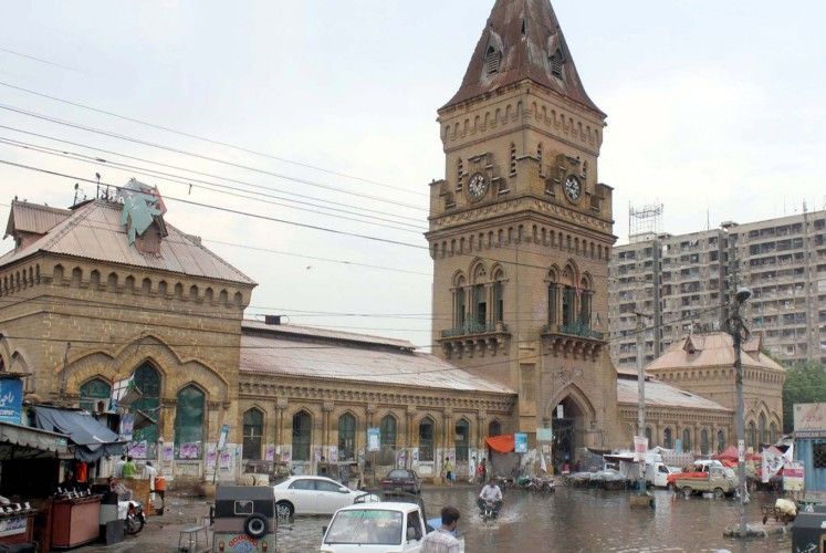The Empress Market is a busy historic marketplace in the Saddar Town locality of Karachi, Pakistan.