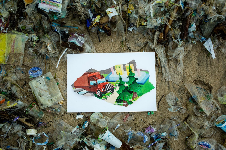 Trashed: A carpet of plastic waste covers Kedonganan Beach in Bali.JP/Agung Parameswara