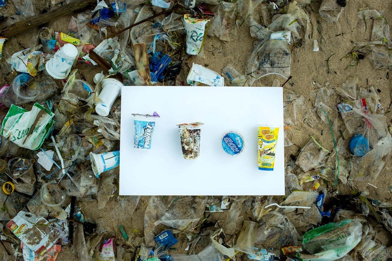 Irresponsible: Plastic cups on Kuta Beach. JP/Agung Parameswara.