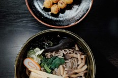 Japanese soba is one of the restaurant's specialties. JP/Anggara Mahendra