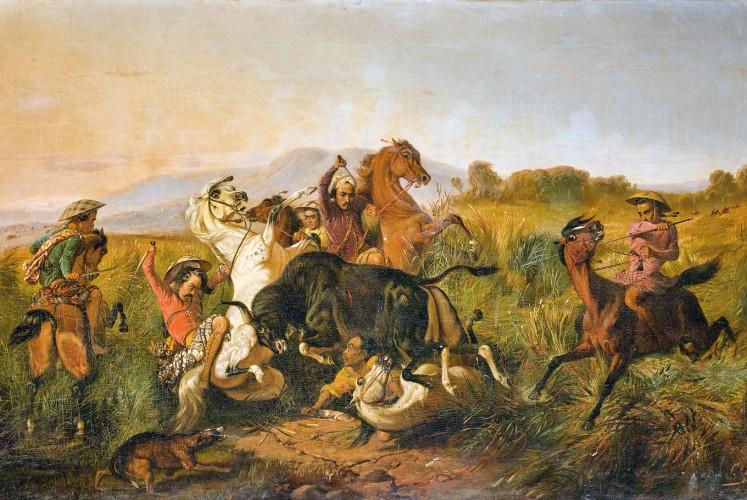 Perburuan Banteng (Banteng Hunt) by Raden Saleh