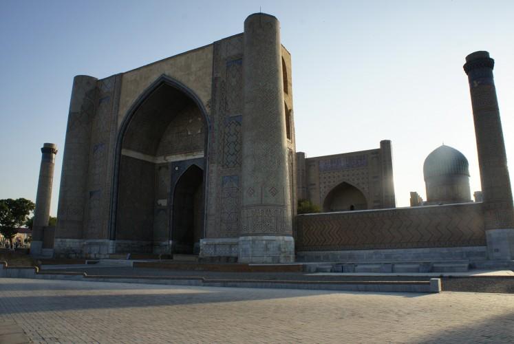 A splendid mosque in Uzbekistan