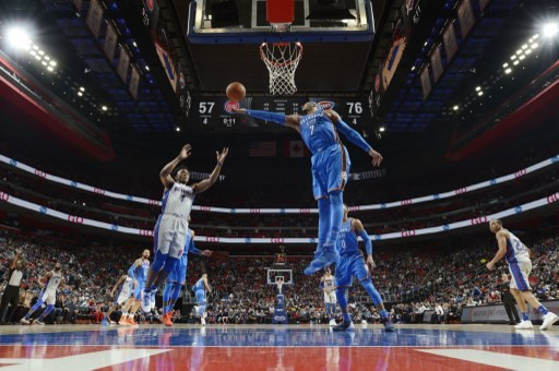 NBA: Anthony cracks 25,000 points as Thunder beat Pistons