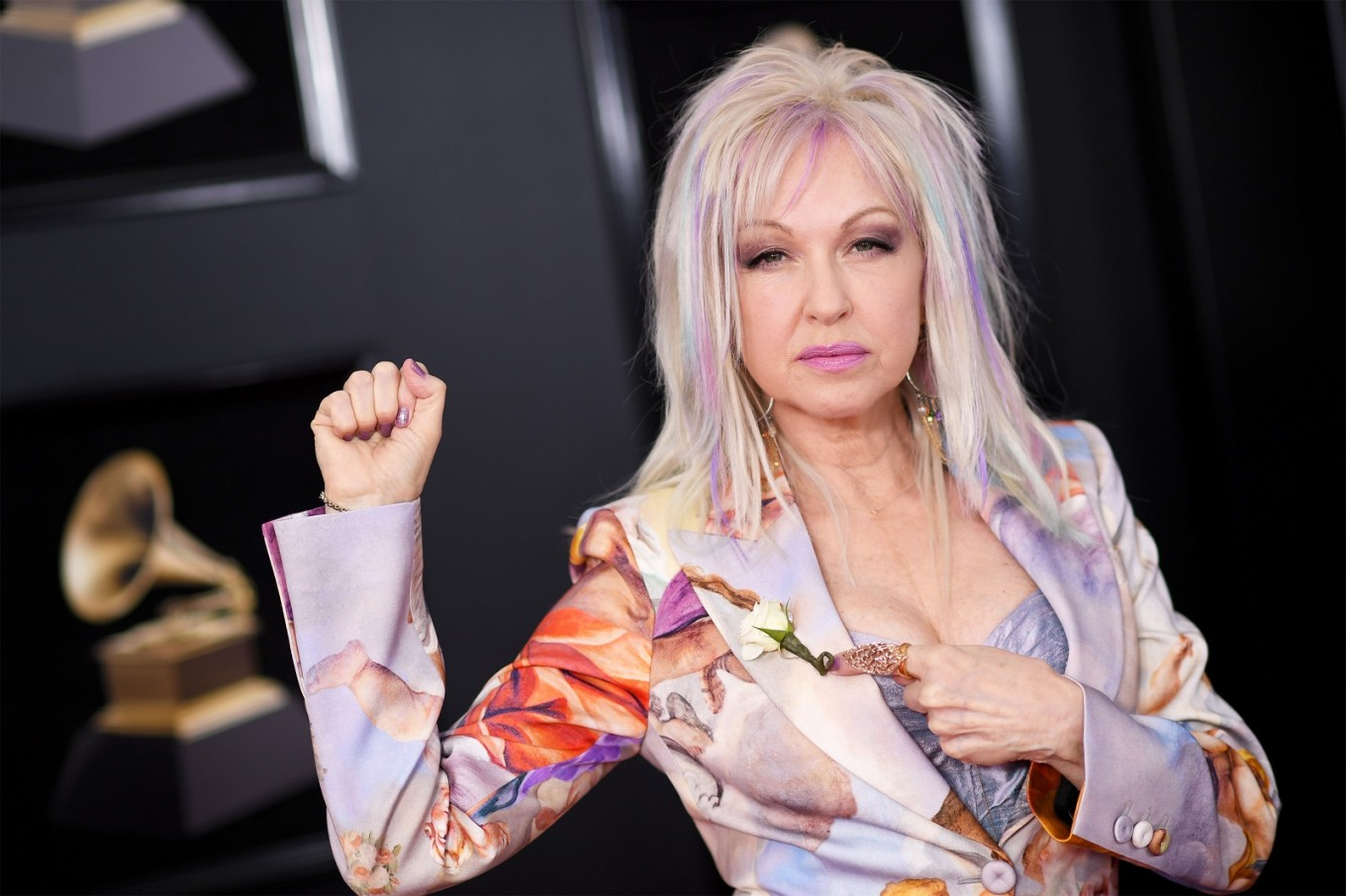 JANUARY 28: Recording artist Cyndi Lauper attends the 60th Annual Grammy Awards at Madison Square Garden on January 28, 2018 in New York City.