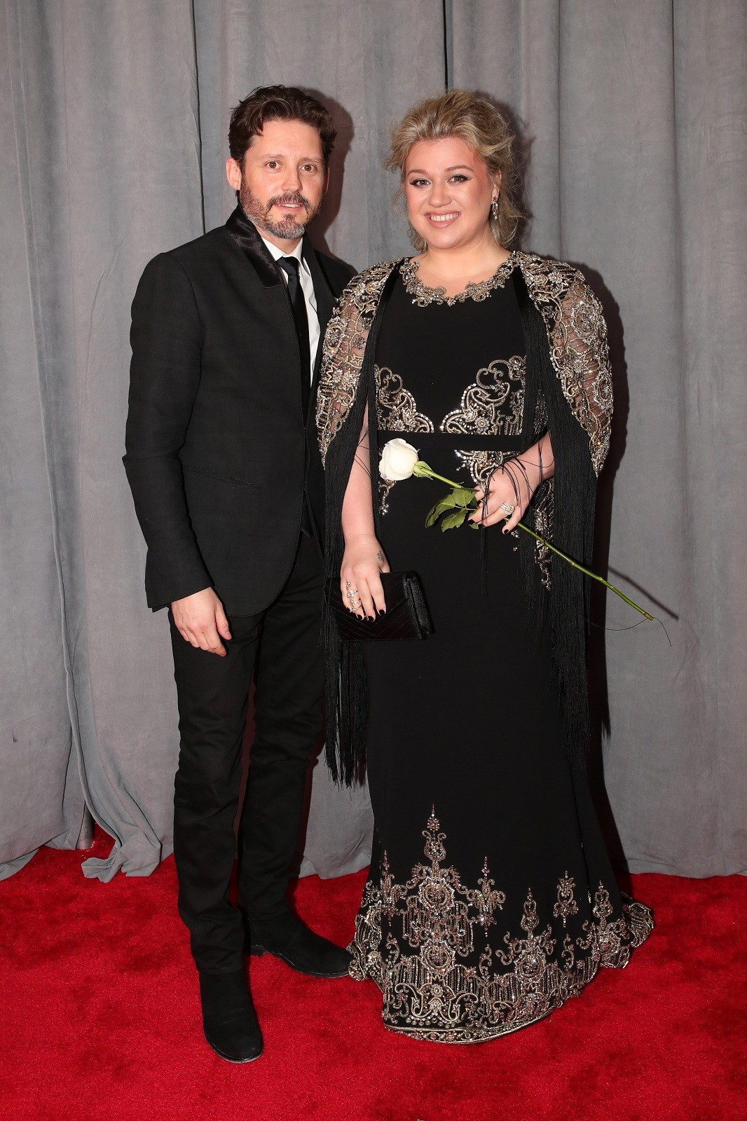 Brandon Blackstock (L) and recording artist Kelly Clarkson attend the 60th Annual Grammy Awards at Madison Square Garden on January 28, 2018 in New York City.