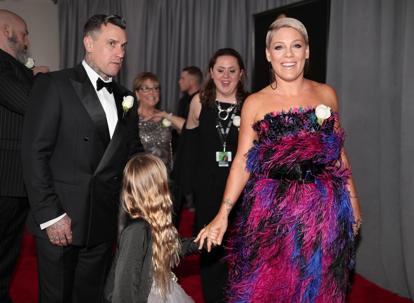 Carey Hart and recording artist Pink (R) attend the 60th Annual Grammy Awards at Madison Square Garden on January 28, 2018 in New York City.