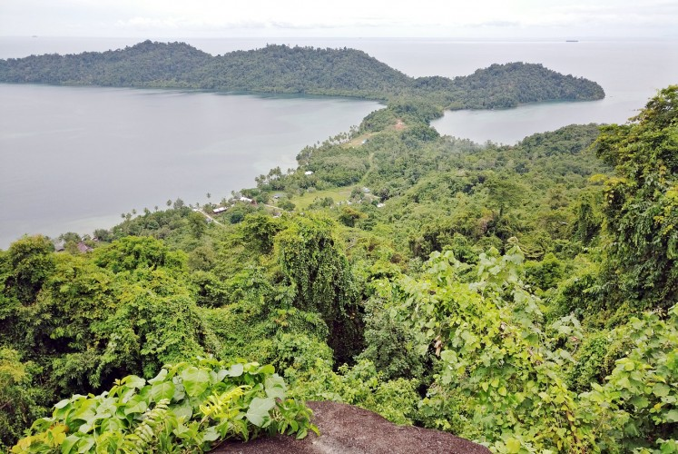 Protected: The view of Cendrawasih Bay as seen from Akudiomi Rock.