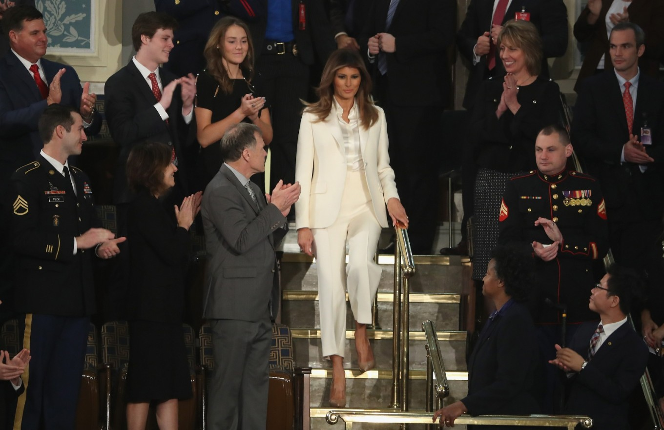 Melania braves public eye after Trump cheating claim