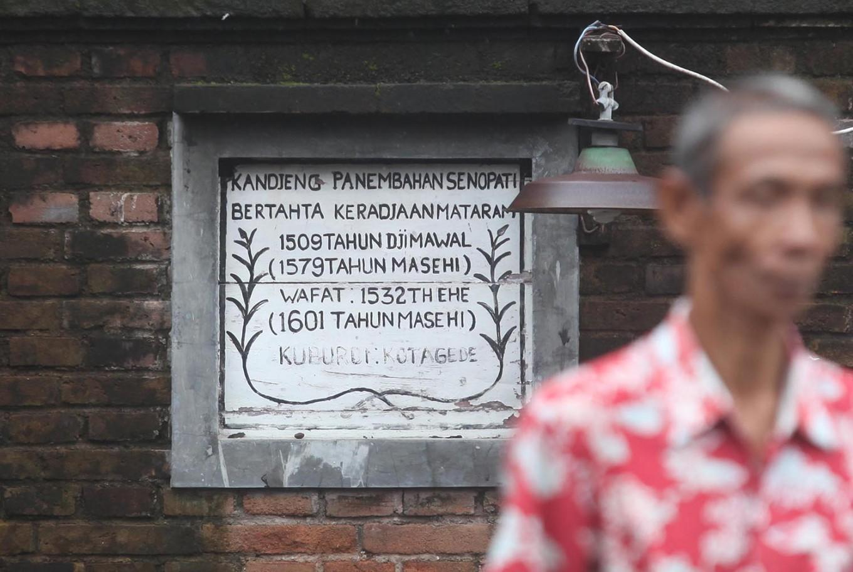 The year of Panembahan Senopati's coronation is written on the wall. JP/Boy T. Harjanto