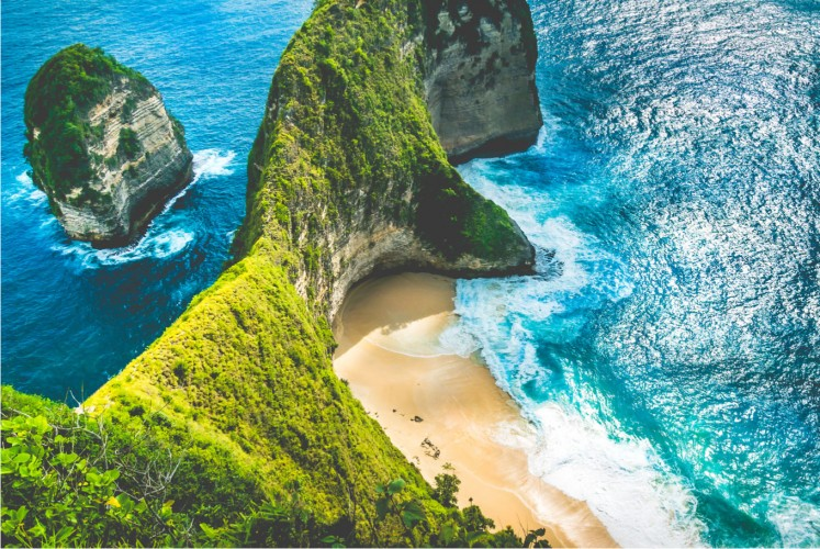 Kelingking Beach offers a break from the madding crowds on Nusa Penida, one of Bali's three sister islands.